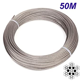 Cuerda de alambre, Cable de acero inoxidable 304, 7x7 ...