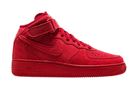 Nike Air Force 1 Mid Spa Rouge Et Blanc