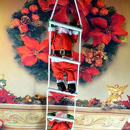 Opak Adornos navideños Santa Claus Subir Escalera Adornos Colgantes Suministros para Fiestas decoración, 40 cm 2 Piezas: Amazon.es: Hogar