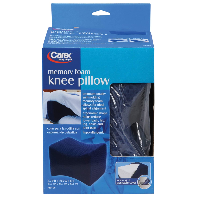 Carex Knee Pillow, Ergonomic Memory