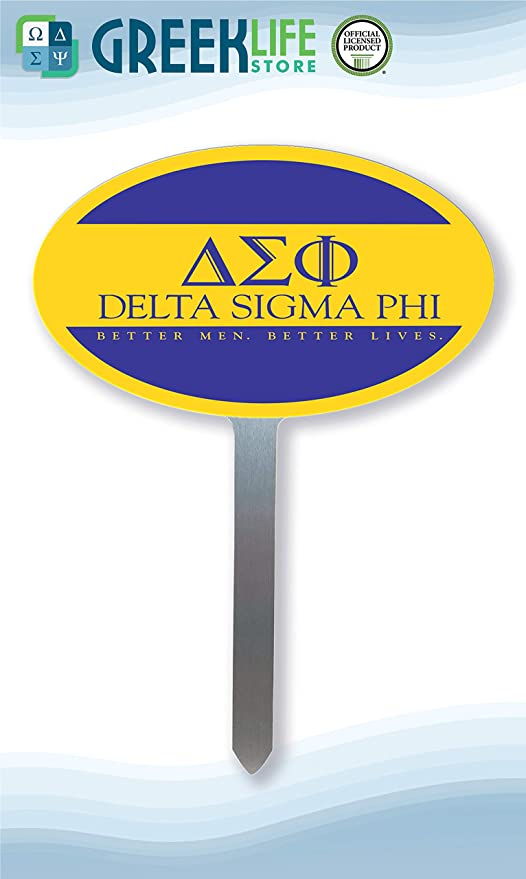 Amazon com : greeklife store Delta Sigma Phi Yard Oval Sign