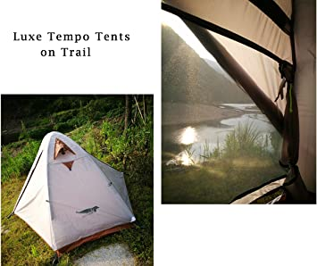 Luxe Tempo Single 1 Person Tent 4 Season 2 Doors with Footprint Freestanding for Camping High end Silnylon Backpacking Tent 2 Vestibules