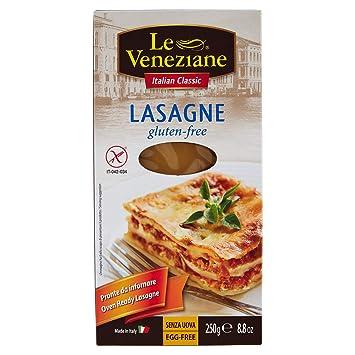 Amazon.com: Le Veneziane sin gluten Lasaña hojas 250 g ...