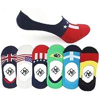 Me Stores Men's Solid Socks Loafer Socks No Show Socks (Pack Of 6 Pair)