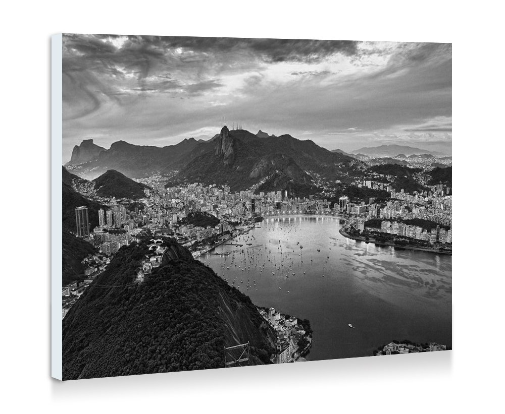 Amazon com amazing rio de janeiro art print wall art frameless decorative painting black and white ready to hang 16x12 inches posters prints