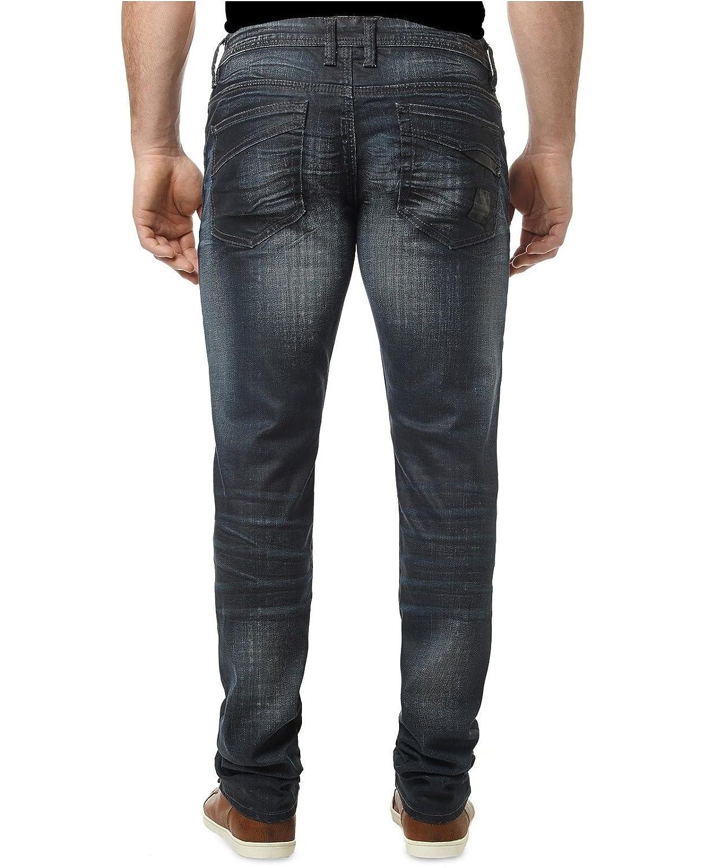Buffalo David Bitton Ash-X Mens Stretch Skinny Fit Dark Sand Jeans Black