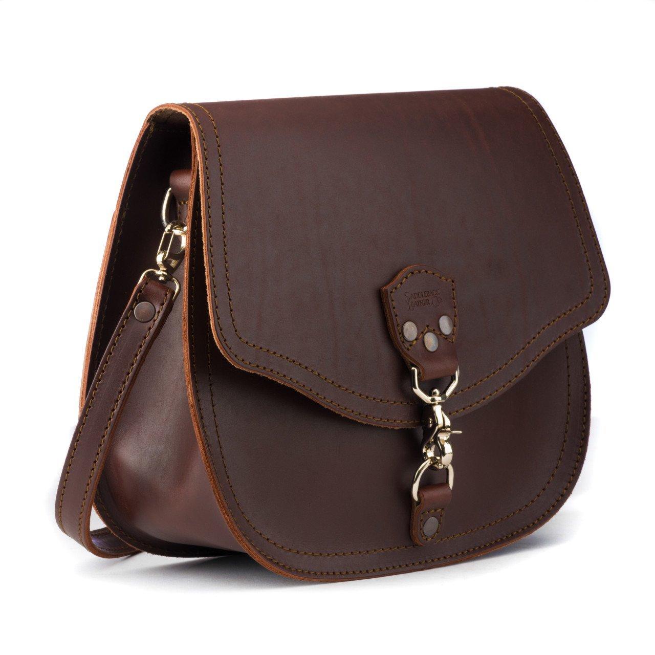Saddleback Leather Hobo Crossbody Purse - Casual, Comfortable Handbag for Women - 100 Year Warranty by Saddleback Leather Co.