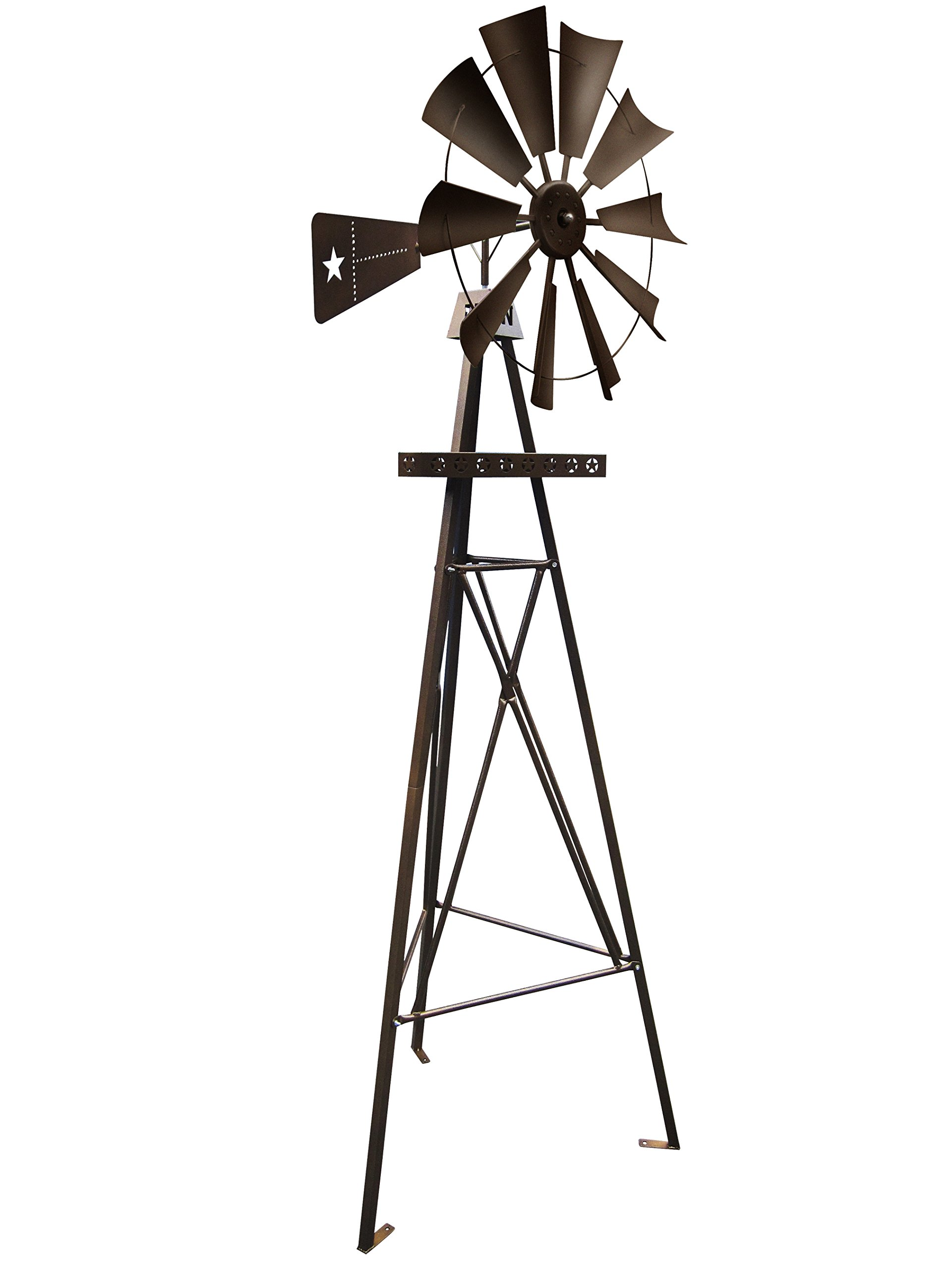 Leigh Country TX 93476 9' Rustic Star Tripod Metal Windmill by Leigh Country (Image #1)