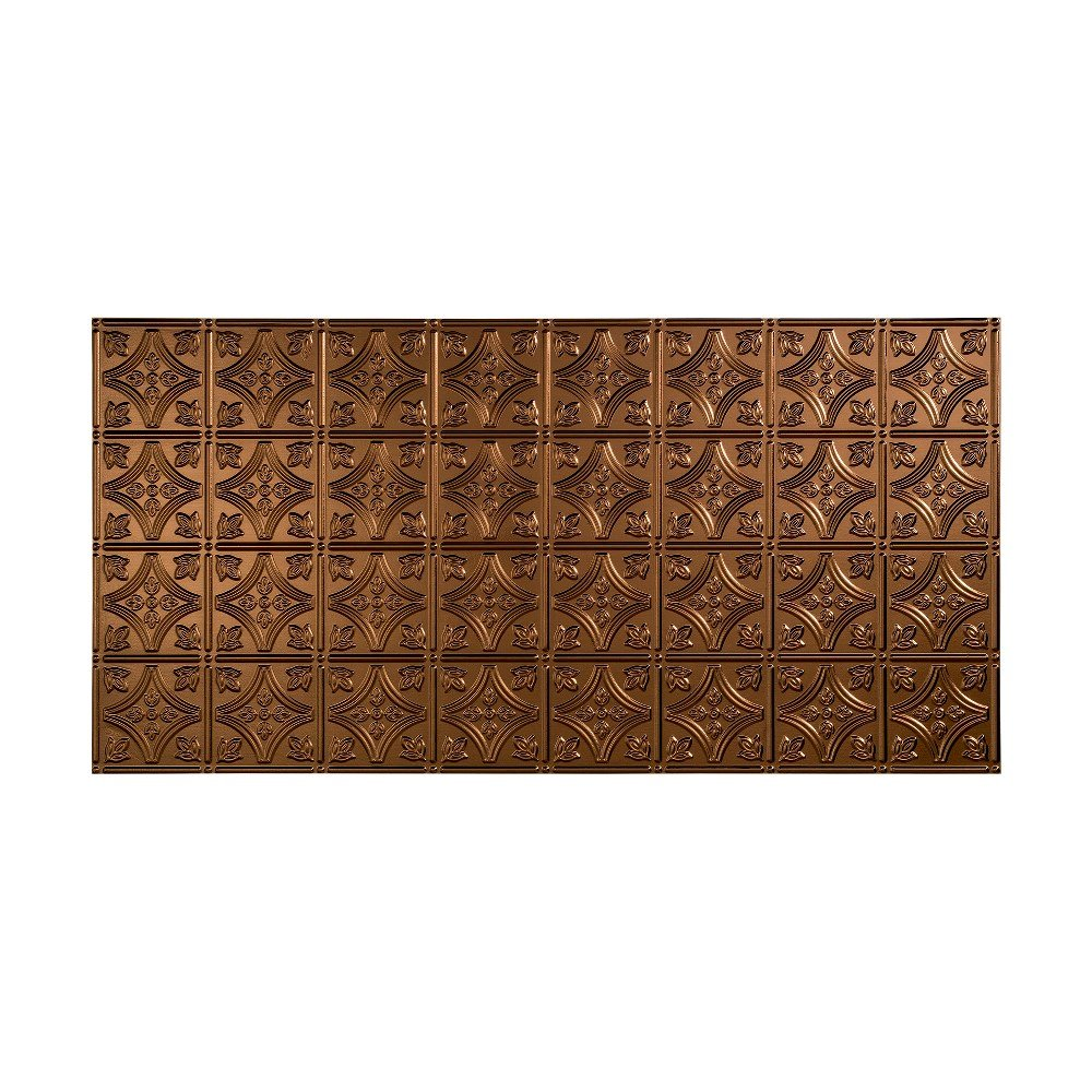 Fasade Easy Installation Traditional 1 Oil-Rubbed Bronze Glue Up Ceiling Tile / Ceiling Panel (2' x 4' Panel)