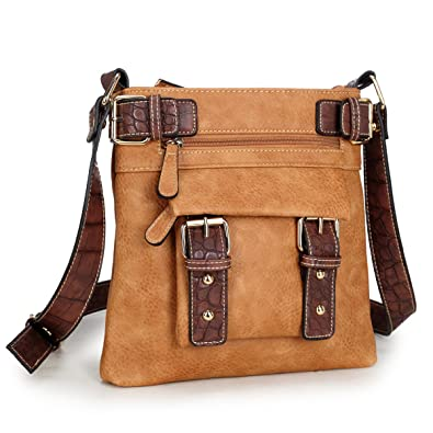 960e5d15e0b3 Dasein Top Belted Crossbody Bags for Women Soft Leather Messenger Bag  Shoulder Bag Travel Purse  Handbags  Amazon.com