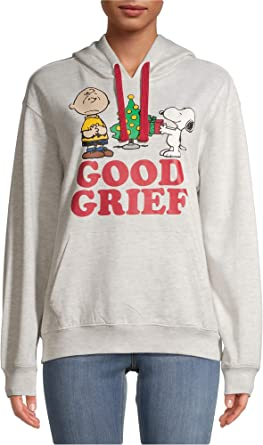 Peanuts Men/'s T Shirt Charlie Brown Good Grief Snoopy Christmas Tree Graphic Tee