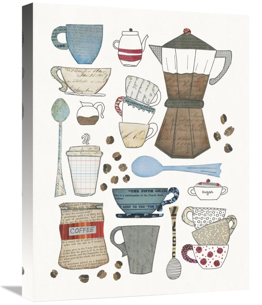Coffee Chart I v2 Canvas Artwork 18 x 24 Global Gallery Courtney Prahl