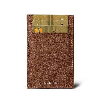 plutôt cool fournir beaucoup de nouveaux prix plus bas Lucrin - Porte Cartes de Crédit et Visite - Cognac - Cuir Grainé