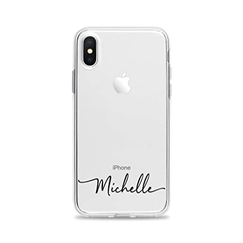 Custom Handwritten Name Clear Phone Case for iPhone XS Max XR X 10S 10R 10 8 Plus 7 6s 6 SE 5s 5 Personalized