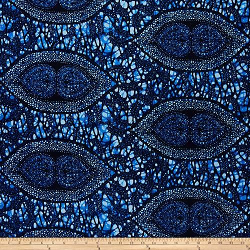 Sonna USA Supreme African Wax Print Broadcloth 6 Yard Blue Indigo