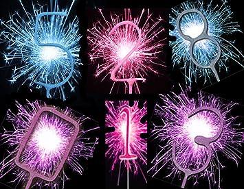 Sparkler Sparkling Number Birthday Cake Candles Age Aged 16