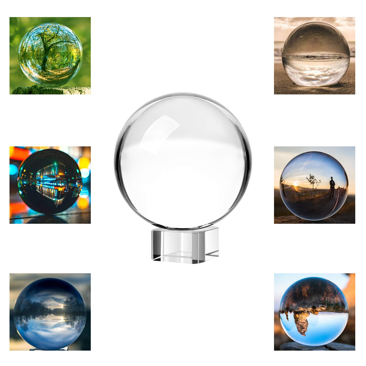 Neewer 100mm/3.94inch Clear Crystal Ball Globe with a Crystal Stand for Feng Shui/Divination or Wedding/Home/Office Decoration by Neewer
