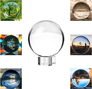 Neewer 80mm/3inch Clear Crystal Ball Globe with Free Crystal Stand for Feng Shui/Divination or Wedding/Home/Office Decoration
