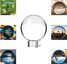 Neewer® 80mm/3pollici Chiara Sfera di Cristallo con Base in Cristallo per Feng Shui/Divination o per Decorazioni di Nozze/Casa/Ufficio