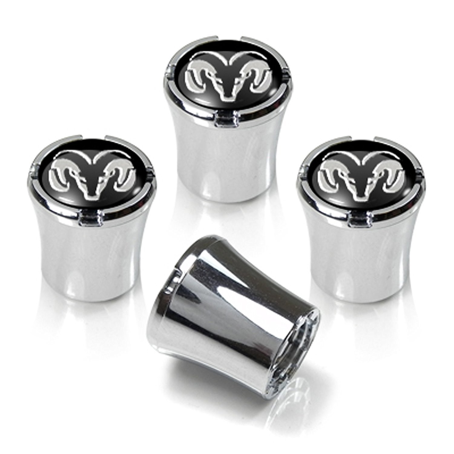 CzlpV 4 Pcs Black Tire Valve Stem Caps for Dodge Ram