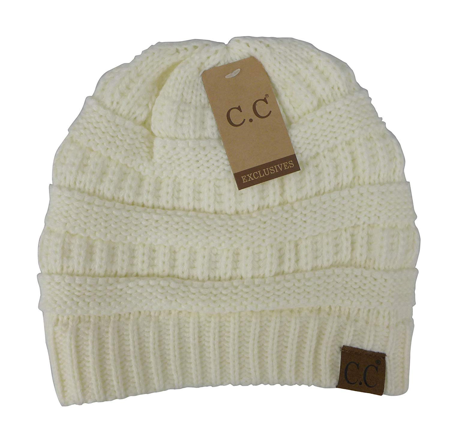 Crane Clothing Co. Women's Classic CC Beanies - Ivory