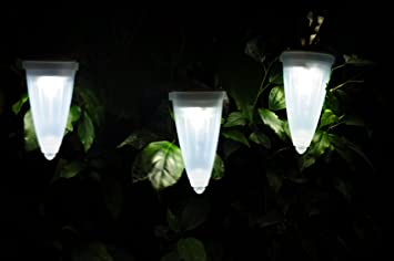 Amazoncom Hanging Solar Garden Light Mini Cone Shaped Solar