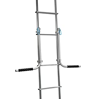 Camco Heavy Duty Rack-Hook on RV Ladder to Support Folding Picnic 21029 Beach Chairs During Travel-Black