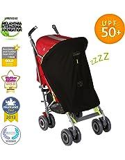 SnoozeShade Original - baby sunshade and blackout blind - fits all prams and pushchairs (blocks 99% UV)