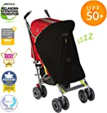 SnoozeShade Original - baby sunshade and blackout blind - fits all prams and pushchairs (blocks 99% UV)
