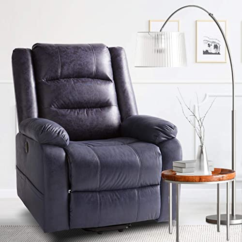 Aoxun Electric Power Lift Recliner Chair Leather-Like Fabric Recliner