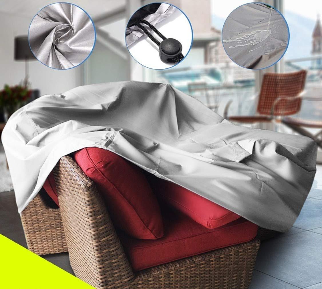 115x115x70 cm Protection de Housse de PVC de Poussi/ère de Chaise de Neige de Pluie Ext/érieurs de Patio zhxinashu Couverture de Meuble de Jardin Imperm/éable