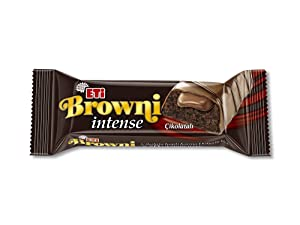 THT Browni Intense Chocolate Covered Cakes with Cream Filling Cookie, Gourmet Chocolate Food, 16 x 50 gr