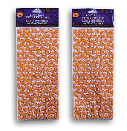 Amazon.com: Halloween Candy Corn temáticos Patterned Loot ...