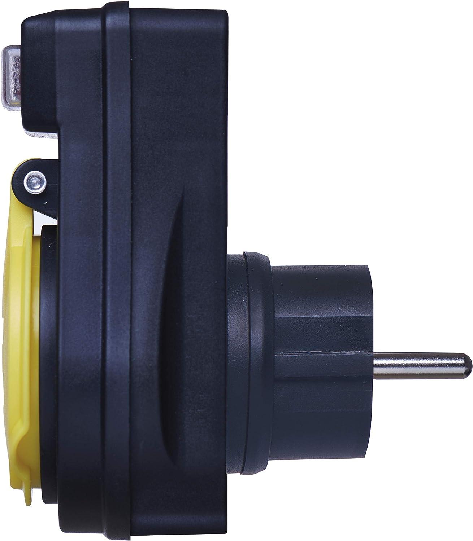 Presa Schuko con interruttore con tappo di protezione per esterni IP44 impermeabile EMOS P00292