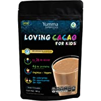 Loving Cacao for Kids by Yumma Superfoods, Mezcla de proteína para niños con superfoods en polvo 180 gr, 100% orgánico y natural