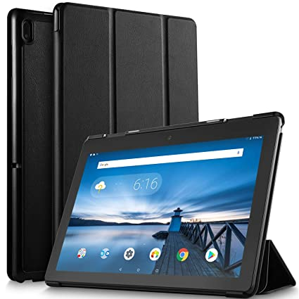 new styles 5dcc0 ea7eb IVSO Case for Lenovo TAB E10, Ultra Lightweight Protective Slim Smart Cover  Case Compatible with Lenovo TAB E10 2018 Released Tablet (Black)
