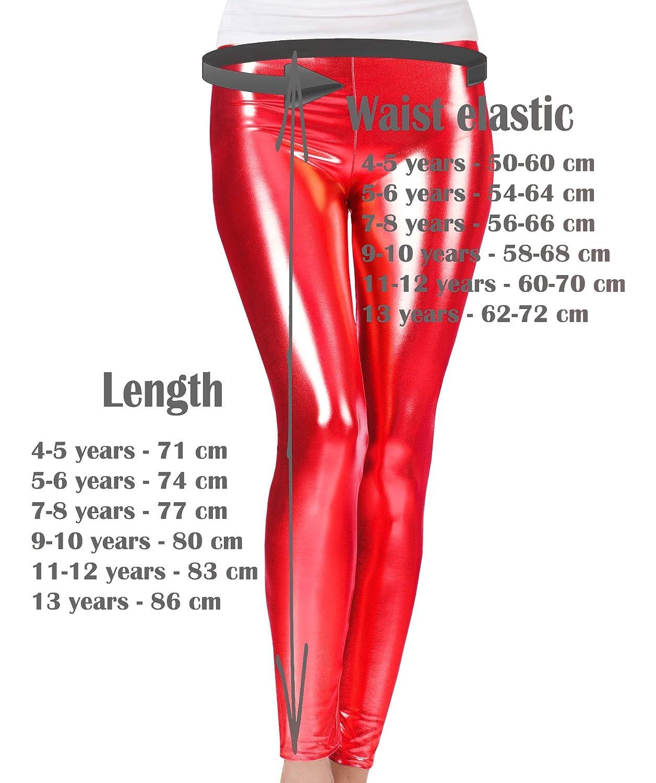 Gamba intera ZipZappa Ragazze Leggings Metallico Brillare Elasticizzati