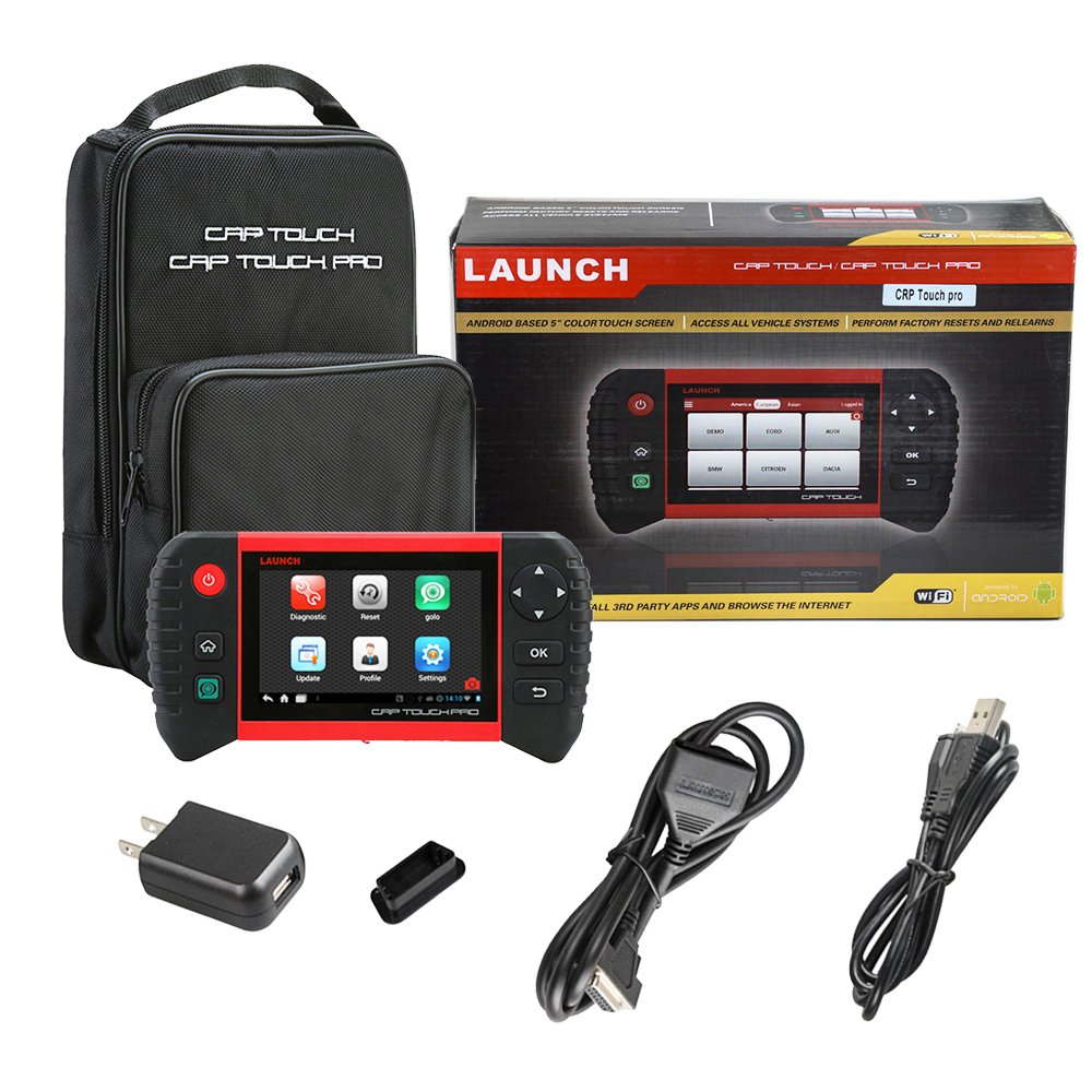 Launch CRP Touch Pro 5.0'' Android Touch Screen OBD2 Diagnostic Scan Tool for ABS, SRS, Transmission,Engine,Battery Registration, EPB, Oil Service Light Reset