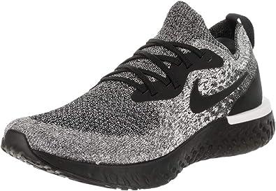 Nike Men's Epic React Flyknit Running Shoes (9.5, Black