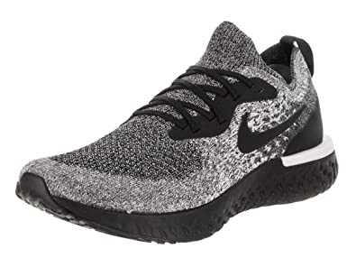 pretty nice 32575 c91e0 Nike Women s Epic React Flyknit Running Shoes (6, Black Black White)