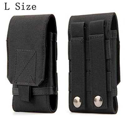 promo code 48cf3 fea63 Tactical MOLLE Smartphone Holster, Universal Army Mobile Phone Belt Pouch  EDC Security Pack Carry Accessory Kit Blowout Pouch Belt Loops Waist Bag ...