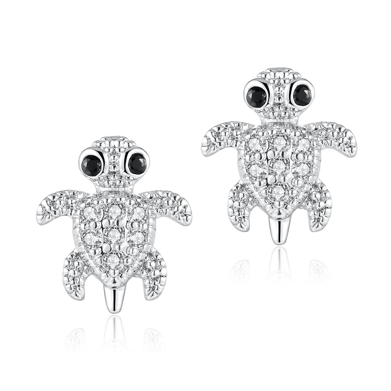 Candyfancy 2 Pieces 16g / 18g Surgical Steel Sea Turtle Ear Cartilage Helix Studs Earrings Auricle Piercings (16G Bar 1.2mm Thick)