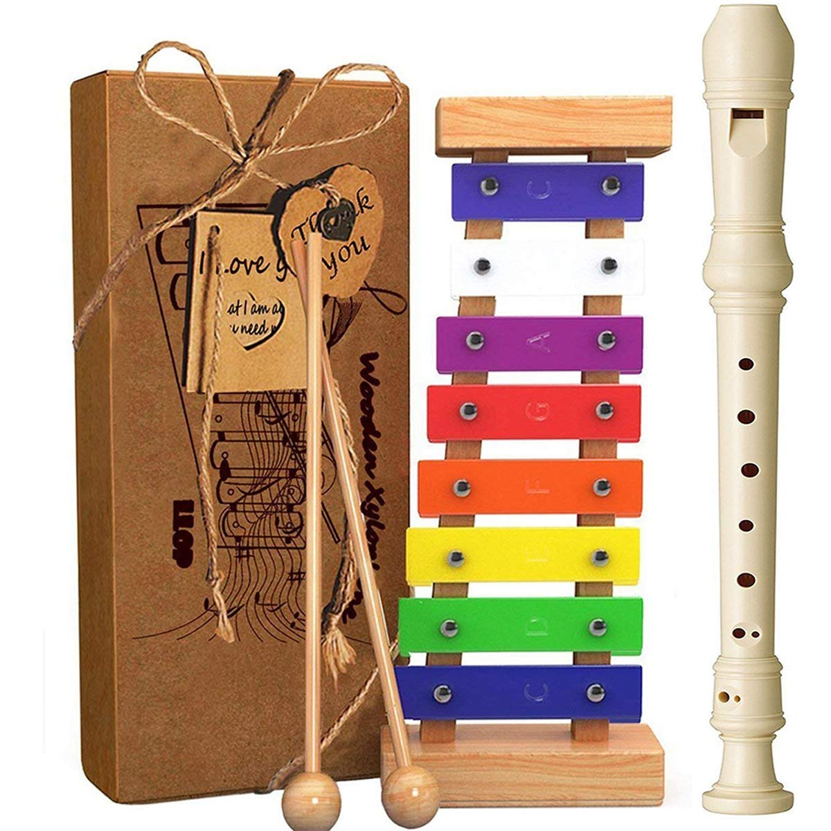 Llop Xylophone For Kids Best Holiday Birthday Diy Idea Musical Toy With Child Safe Mallets Perfectly Tuned Instrument Toddlers Cards And A Free