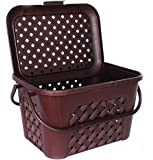 DAILYESSENTIALZ Premium & Durable Home Office Handy Storage Basket, Picnic Box, Caddy Basket. Grocery, Fruits and Vegetables Shopping Basket with Lid & Handle