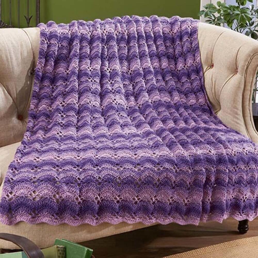 Herrschners® Purple Haze Crochet Afghan Kit