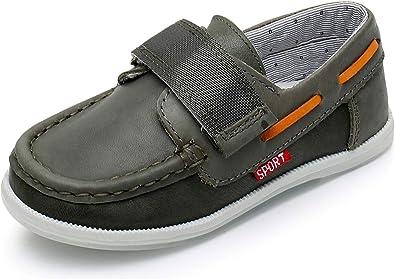 Ahannie Boys Hook \u0026 Loop Loafer Shoes