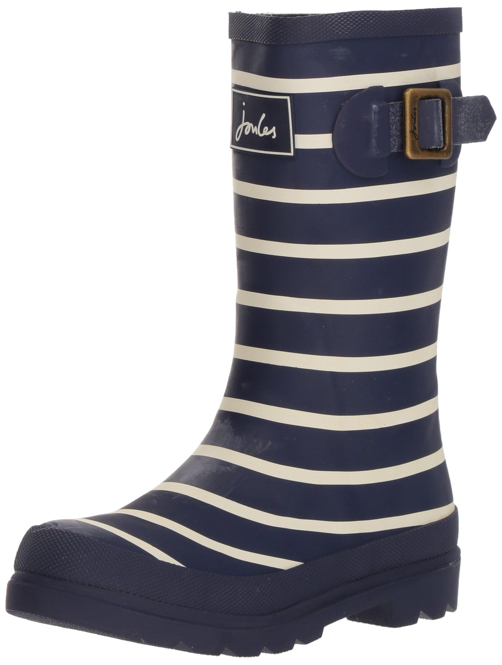 Joules JNR Boys Welly Rain Boot (Toddler/Little Kid/Big Kid), French Navy Stripe, 3 M US Little Kid