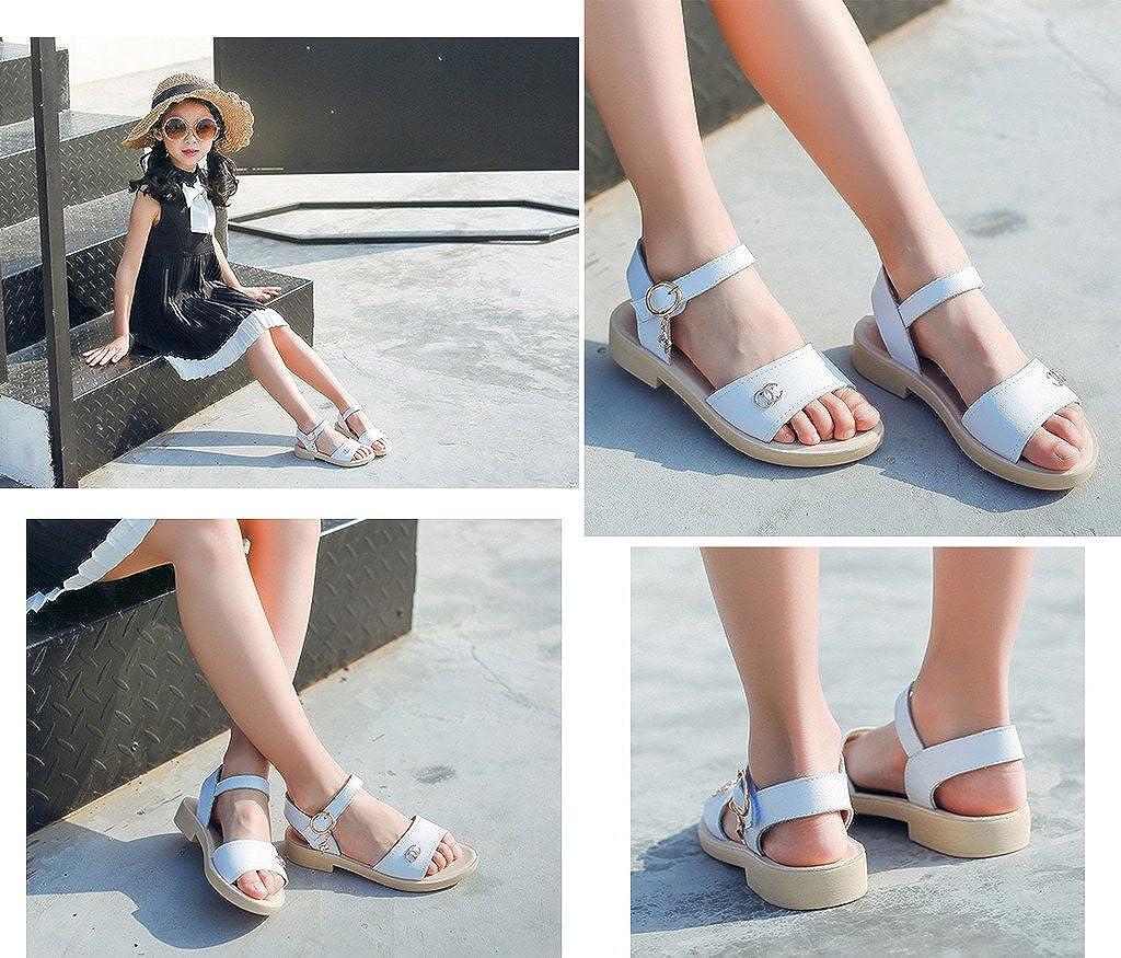 COMVIP Kids Girl Summer Open Toe Casual Shoes Flats Sandals