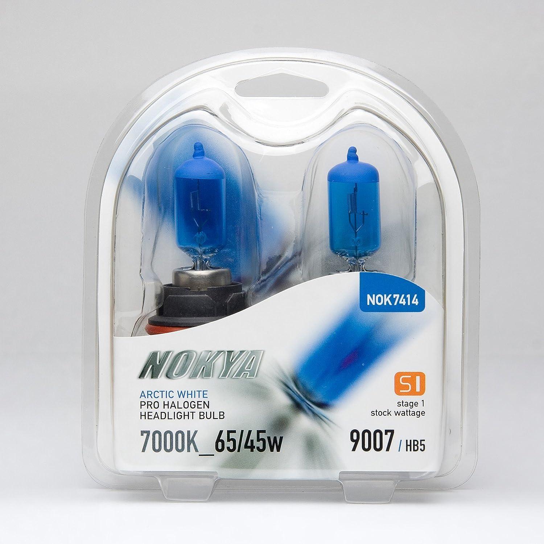 Nokya Arctic White Pro Halogen Headlight Bulbs 9007//HB5 65//45w 7000K Stage 1 NEW