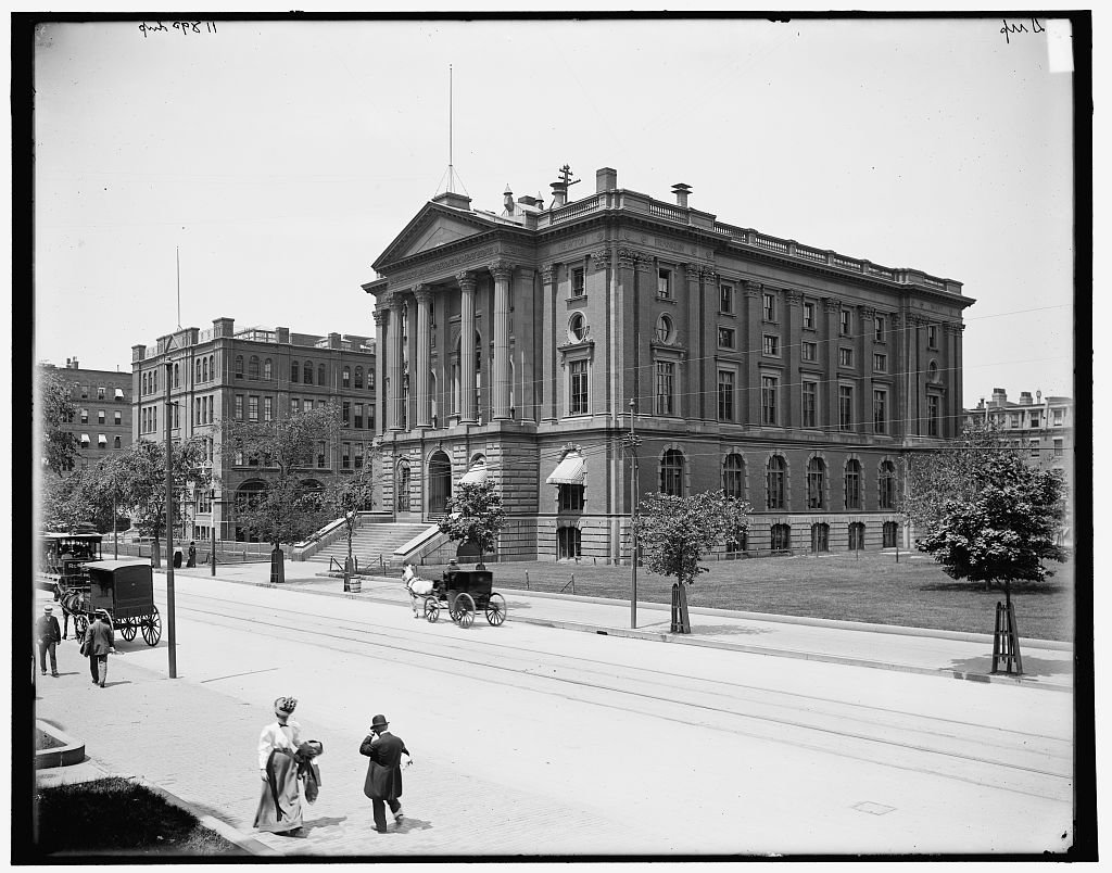 Vintography 8 x 10 Reprinted Old Photo Massachusetts Institute Technology Rogers Building Boston 1910 Detriot Publishing co. 36a